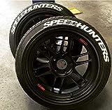 PS SPEEDHUNTERS Weiss Reifenbeschriftung Reifen Aufkleber 4X Gummi Tire Tyre Sticker Set passend auf 14'-22' Zoll Reifen