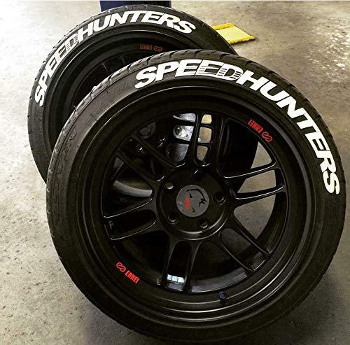 PS SPEEDHUNTERS Weiss Reifenbeschriftung Reifen Aufkleber 4X Gummi Tire Tyre Sticker Set passend auf 14