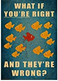 SHENGZI Canvas Poster Small Fish Retro Decoration Poster