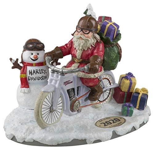 Harley-Davidson Custom Sculpted 2020 Biker Santa & Snowman Figurine HDX-99181