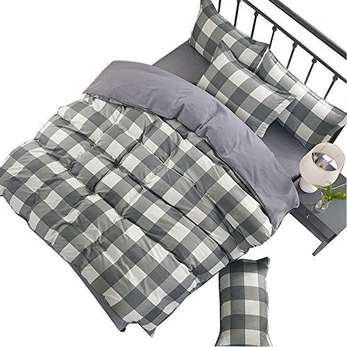 CXL CXLBedding duvet cover sheets aloe cotton bedding home durable matte four-piece set-gray