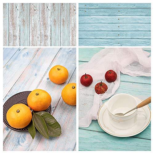 Fotohintergrund, Gadom 2 in 1 Doppelseitiger Hintergrund Fotografie 57x87cm fotowand hintergrund Backdrop für Kinder, Gourmet, Dessert Anzeige, Poster...