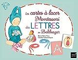 Les cartes à lacer Montessori des lettres de Balthazar