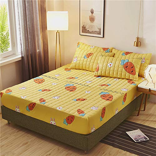 N / A Waterproof Mattress Protector, Anti-mite, Antibacterial,Mattress Topper,Cartoon brushed quilted bed cover, single double king size bedspread, non-slip and dustproof-11_200*220cm