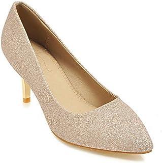 bf601a8f34a 1TO9 MMS06789 Huarache Zapatos de tacón Stiletto sin Cierre con Tachuelas  para Mujer