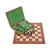 Square - Profesional Ajedrez de Madera Nº 5 - Caoba Lux - Tablero de ajedrez + Figuras - Staunton 5