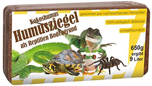 Humusziegel - Kokos Einstreu Reptilien Bodengrund, ca. 200 Liter, 24 x 650 g