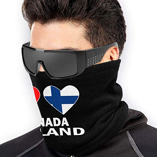 ShiHaiYunBai Braga Cuello Moto Calentador de Cuello Deporte Calentador Pasamontañas Polar Multifuncional Máscara Canada Finland Hearts Men