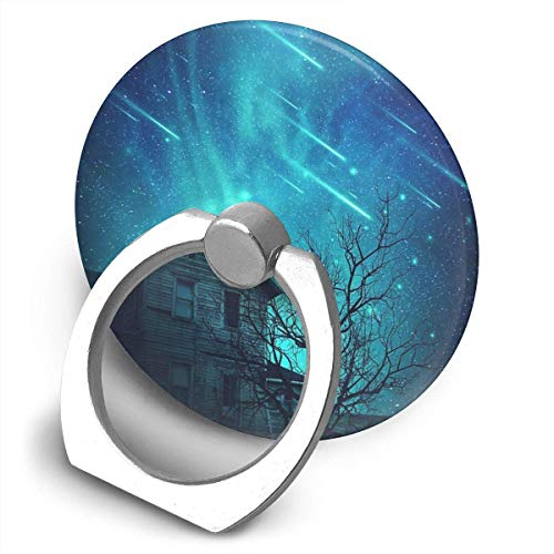 ARRISLIFE No One Home Soporte para teléfono,Round-Shaped Soporte para Anillo de teléfono Celular,360 Degrees Rotating Soporte de Metal
