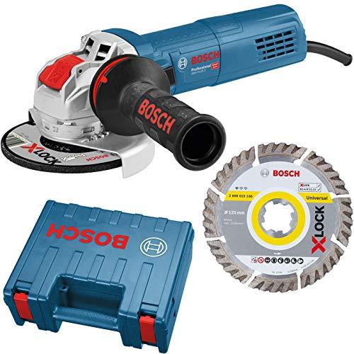 Bosch Professional X-LOCK Winkelschleifer GWX 9-125 S Professional, blau, 900