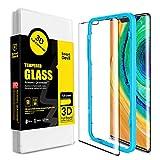 SmartDevil Protector de Pantalla de Vidrio Templado para Huawei Mate 30 Pro [Cobertura Completa] [Resistente a los arañazos] [Marco de fácil instalación] Protector de Pantalla
