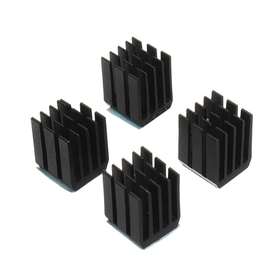 Farwind 4PCS Black TMC2100 Stepper Motor Driver Cooling Heatsink with Back Glue for 3D Printer