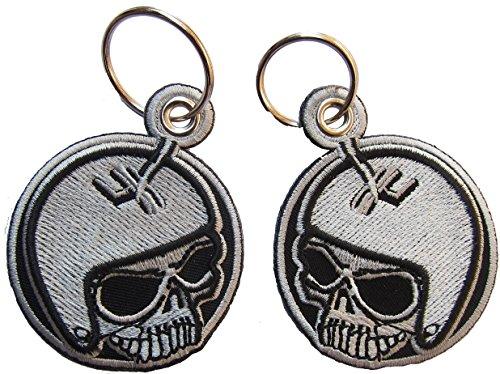 Gear Totenkopf Gangschaltung Skullhead gestickter Schlüsselanhänger Aufnäher