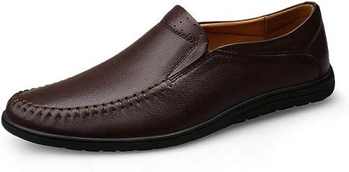 punto de venta Nuevos zapatos de Cuero para Hombre zapatos