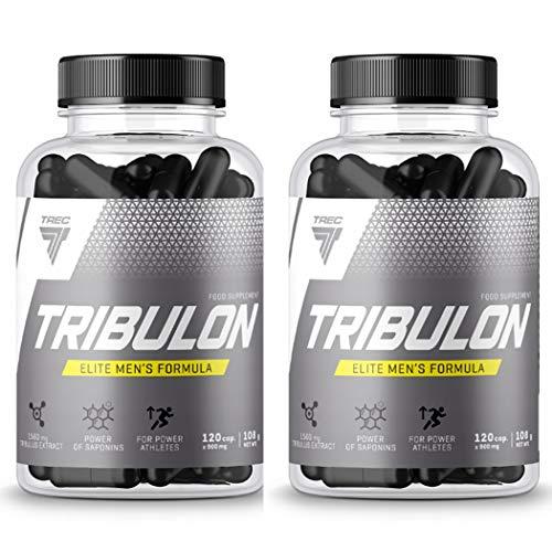 Trec Nutrition Tribulon   Booster de testostérone pour les hommes   Tribulus Terrestris   Soutien de la libido   Complément alimentaire   Anabolique (240 gélules)