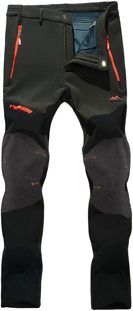 TILPAWOGGA Men's Outdoor Fleece オンライン限定商品 Lined 新品未使用 Zippe Pants Softshell with