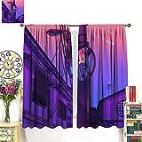 DRAGON VINES Póster de Tokio Sunrise Sky Modern PaintingClassic Cortinas residenciales, oficina, decoración de la habitación, 183 x 160 cm