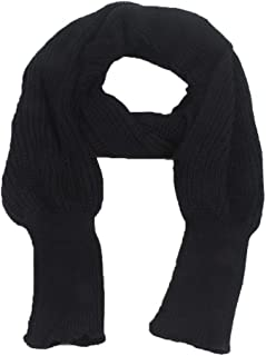 Autumn Winter Knit Blanket Long Shawl Unisex Scarf Wrap Sweater with Sleeves