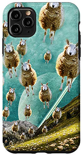 iPhone 11 Pro Max The Flying Sheep Surreal Art - Collage Artwork Funny Sheep Case