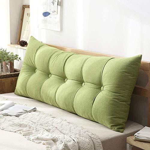 JKL J-Almohada Cojín Doble, Cama Larga Almohada del sofá Grande Amortiguador Trasero Tatami extraíble, for Sofá Cama Inicio (Color : Green, Size : 120×20×60cm)
