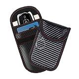 Faraday Bag for Key Fob (2 Pack), Signal Blocking Car Key Fob Case, RFID Key Fob Protector, Anti-Theft Blocking Cage for Keyless Car Keys,Water Proof Car Key Pouch