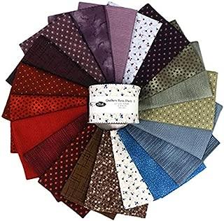 Stof Fabrics of Denmark Stoffabrics of Denmark Quilters Basic Dusty B Assorted Color 2.5'' Strips 20pcs, Multi