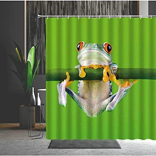 Searchi Duschvorhang Es Gibt Füchse Duschvorhang Anti-Schimmel Polyester Waterproof Fabric Bath 180*200Cm Top Qualität Wasserdicht, Anti-Schimmel-Effekt 3D Digitaldruck Inkl. 12 Duschvorhangringe