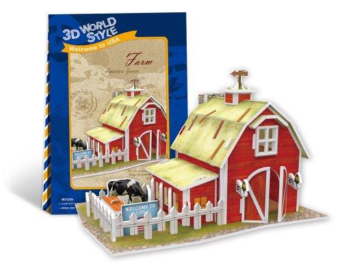 3D puzzle en trois dimensions World Series style 3D agricole (ferme) W3123h (japon importation)