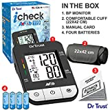 Dr Trust (USA) Digital Blood Pressure Monitor Apparatus and Testing Machine with USB Port Icheck Atrial Fibrillation Most Accurate BP Checking Instrument Afib - 119 (Black)