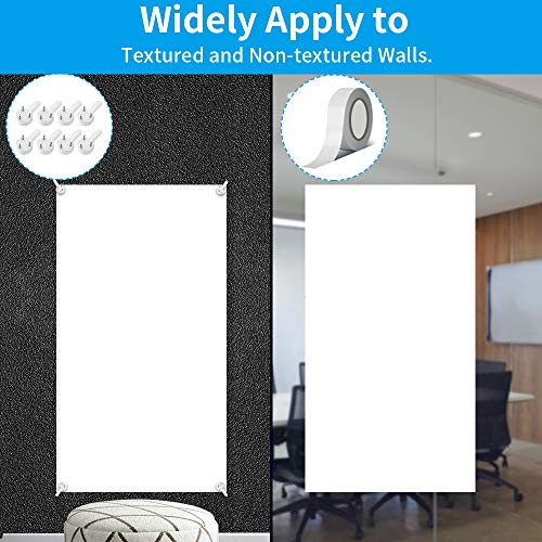 Large White Board for Wall, Dry Erase Board W/O Adhesive, 6x4 FT Dry Erase Paper w/ 3 White Board Markers, No Ghost Dry Erase Surface for Wall, Winkle & Bubble Free for Textured & Non-Textured Walls Photo #4