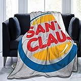 Tonesum Santa Claus Burger King Logo Navidad Tirar Una Manta,Manta De Franela,Cubierta De Cama,Colcha Suave,Manta Cálida A Cuadros,Oficina Manta De Sofá,Mantas De Cama S
