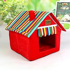 Muodu Niche pour chat conçu pour petits chiens et chats Portable Intérieur Pet House