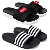 Zenwear Men's Flipflop and Slipper, Slides, Slip-on Combo Pack of 2