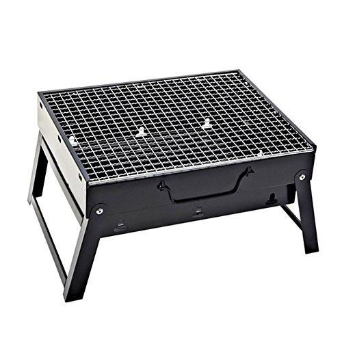 L.Atsain BBQ Mobiler Holzkohle-Grill,Enthält Alle Zubehör Für Ein Barbecue, Viel Geld Sparen - Indoor Outdoor Campers Picknick Camping Backyard Beach Wandern