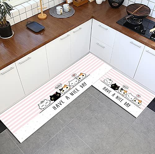Alfombra antideslizante de dibujos animados de la cocina del hogar alfombra suave baño tira larga absorción felpudo entrada balcón hotel salón alfombra A16 50x160cm