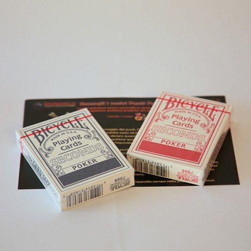SOLOMAGIA 12 (dodici) Mazzi di Carte Bicycle Seconds - Mazzo Regolare Formato Poker - Dorso Blu e Rosso