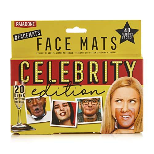 Paladone Celebrity Mats | Selfie-Requisiten x 40 Verschiedene berühmte Gesichter | perfekt für Partys, Hochzeiten, Junggesellen- und Junggesellinnenabschiede, Karten, Bunt, One Size