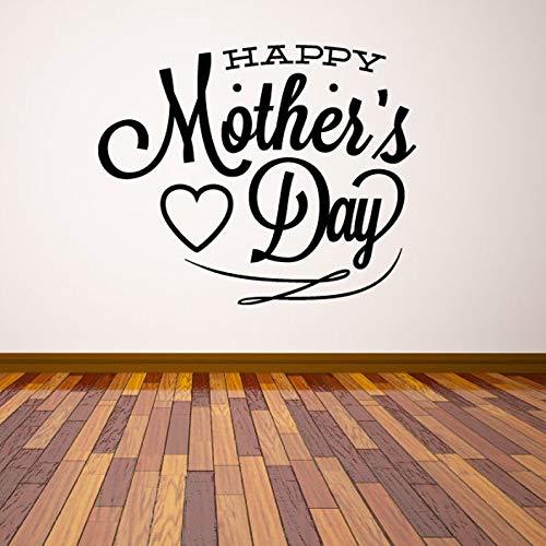 Autocollant mural en vinyle pour voiture Inscription Happy Mother's Day