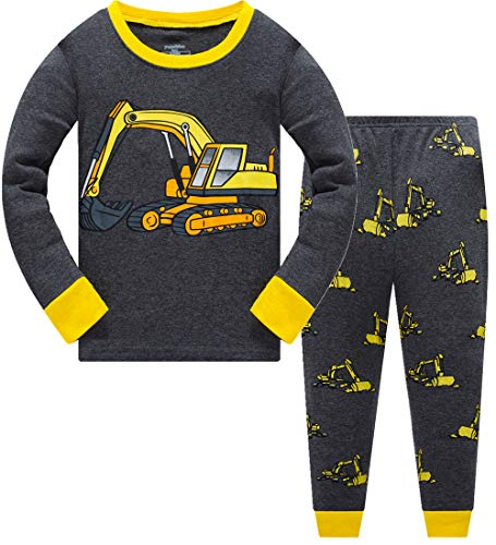 Schlafanzug für Jungen, 100 % Baumwolle, leuchtet im Dunkeln, Dinosaurier-Pyjama,...