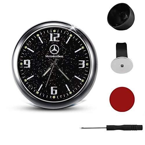 Auto-Armaturenbrett-Uhr, Quarzuhr, Auto-Logo, leuchtendes Zifferblatt, Lüftungsschlitz-Uhr, Auto-Innendekoration, Zubehör