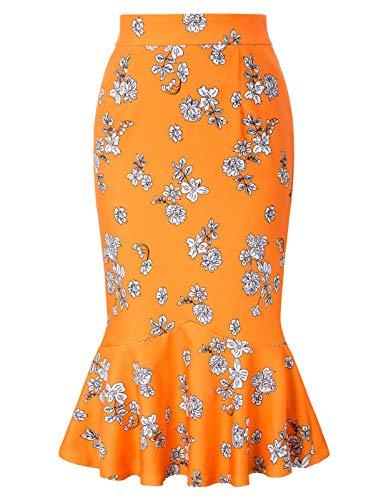 Kate Kasin damskie vintage codzienne gładkie formalne spódnice ołówkowe do biura biznesu KK241