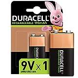 Duracell - Rechargeable 9V 170mAh, Batteria Ricaricabile 170 mAh, Confezione da 1