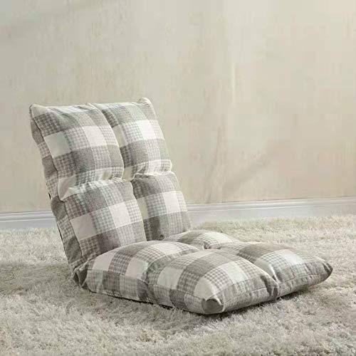 JIXIAO Sofa Fauler Sofastuhl, Tatami Bodenkissen Bett Stuhl Folding Sofa (Grau + Weiß) (Color : Gray+White)