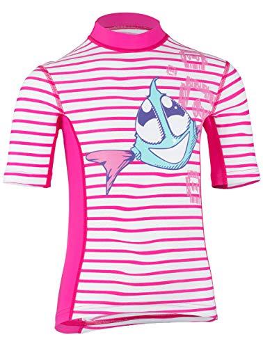 hyphen med Kids UV-Schutzkleidung (Sonnenschutz-Faktor 80) Kurzarmshirt Sweet siri Striped Magli, Magli (140/146)