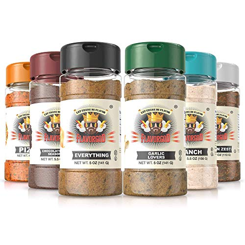 Flavor God Seasonings- Meal Prep Combo Pack | Pack of 6- 5oz | Healthy Seasonings | Great for Added Flavor |No Calories, No Dairy, No MSG, No Fat, No Gluten | Made in the USA