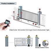 Kit-Motor-Puerta-Corredera-Motorizacin-Motor-de-Puerta-Corredera-hasta-1200Kg-Impermeable-Abridor-para-Puertas-Correderas-con-2-mandos-a-distancia-y-2-teclas-para-Uso-Residencial-y-Comercial