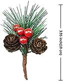 Super Idee 20 STK. Kleine künstliche Tannenzweige mit Beeren und Tannenzapfen Ideal für Weihnachtsdekoration Weihnachtsdeko Adventsdeko Aussen Innen selber Machen Basteln Adventkranz Advent Tischdeko - 2