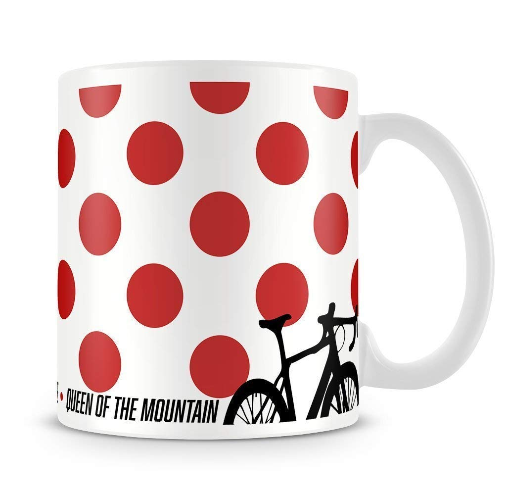PeachyApricot Cheap Sale sale Queen of the Mountain Coffee 11oz Cycling Mug