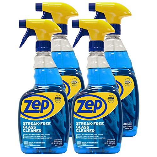 Zep Streak-Free Glass Cleaner 32 Ounce ZU112032 (Case of 4) Pro Formula Clean