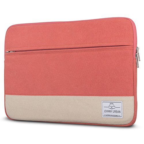 Johnny Urban Laptophülle 15-15.6 Zoll Rot Canvas Laptop Sleeve 15-15.6